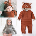 Knitted Baby Rompers Spring Autumn Long Sleeve Baby Boys Girls Jumpsuit Cartoon Rabbit Infant Clothes Kids Romper