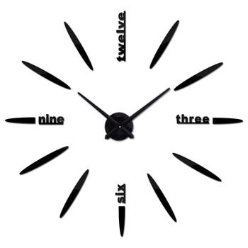 Новые модные 3d настенные часы reloj де сравнению кварцевые часы короткие diy часы гостиная большие наклейки декоративные horloge murale