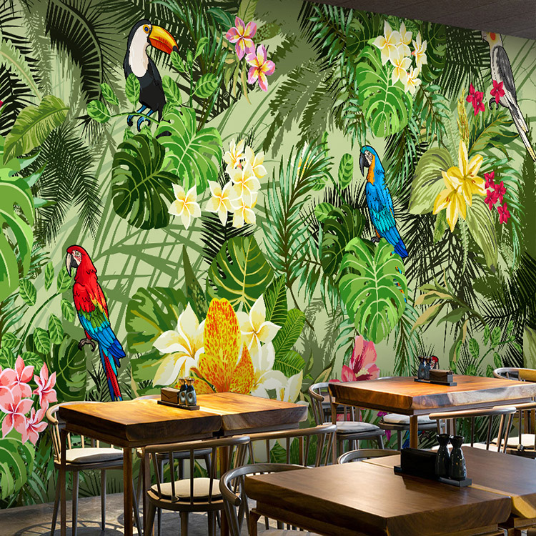 Free Shipping custom 3D stereo forest scenery wallpaper mural restaurant Hotel KTV commercial street mural free shipping 3d custom wall paintings large construction projects stone unicorn wallpaper hotel cafe ktv wallpaper mural