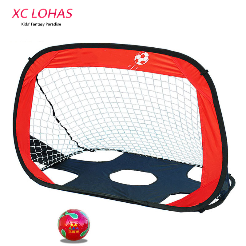 110*80*80cm Portable Folding Children Football Goal Door Set Football Gate Outdoor Sports Toys Kids Soccer Door Set Cool Gifts folding soccer goal portable child pop up soccer goals for kids sports training backyard playground outdoor sports high quality