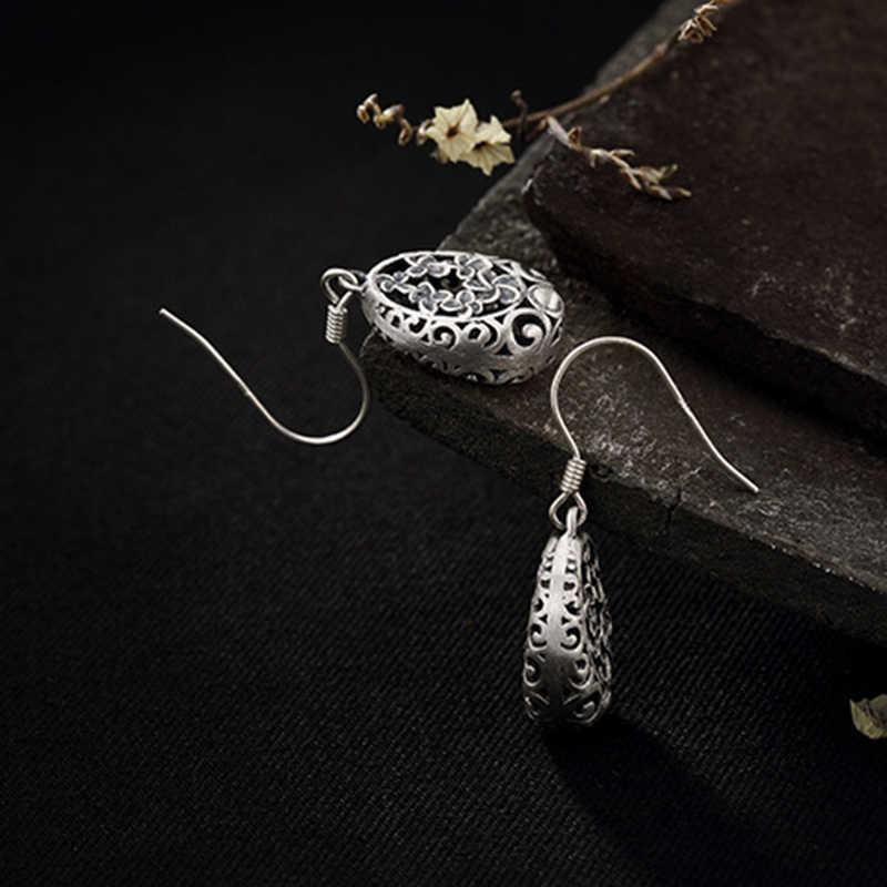 أقراط متدلية من BALMORA مصنوعة من الفضة الخالصة عيار 925 على شكل أزهار الكرز المجوفة للسيدات تصلح كهدية للأم مجوهرات كلاسيكية طراز JWE1049
