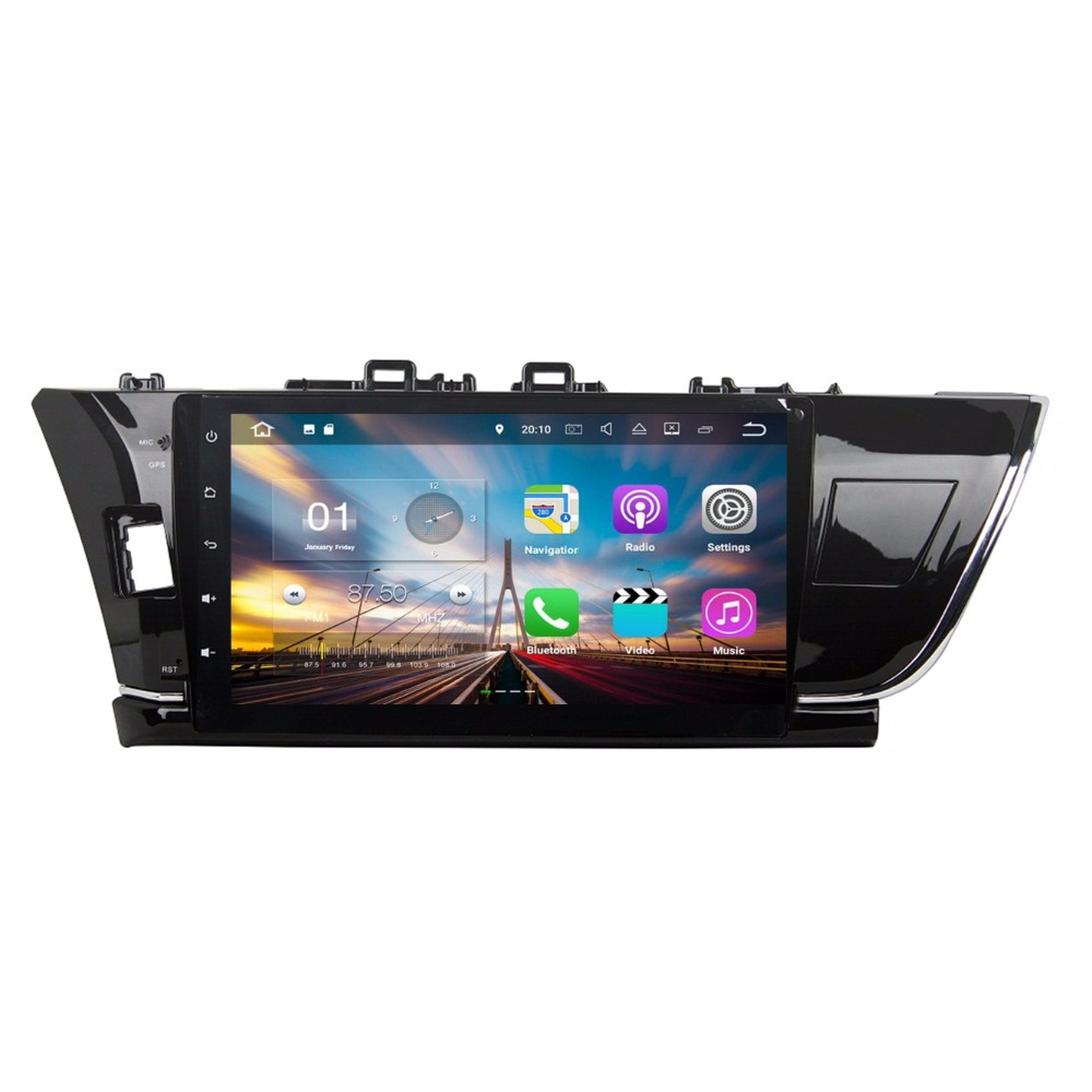 2GB RAM Android 7.1 Quad Core Car Radio DVD GPS Multimedia Player for Toyota Corolla 2014 2015 With Bluetooth WIFI Mirror-link