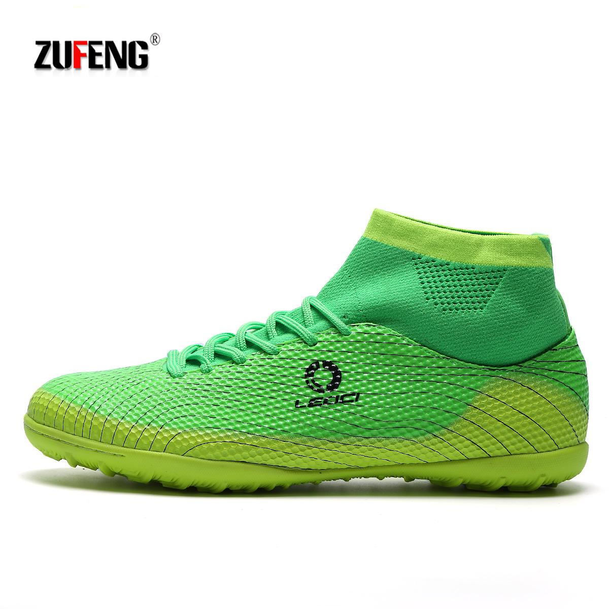 Wysoka kostka buty piłkarskie dla mężczyzn TF/FG/AG długie kolce buty piłkarskie treningowe wytrzymałe buty piłka nożna dla dzieci buty piłkarskie