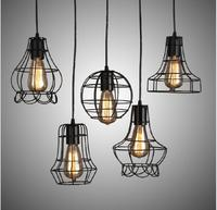 Free Shipping Wholesale 5 Style Edison Bulb Art Iron Pendant Lamps Vintage Style Pendant Lights High