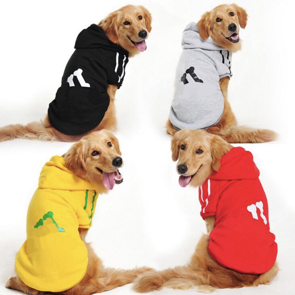 Di Grandi Dimensioni Vestiti Del Cane Per Cani Di Grossa Taglia Di Nuovo Disegno Retriever Cane Di Inverno Tute E Salopette Per Il Cane Forniture Pet Con Cappuccio Sportivo 2xl-9xl