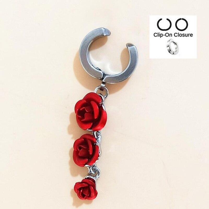 Rose Flower Fake Belly On Rings