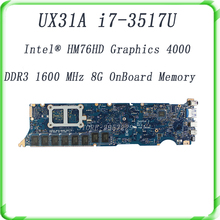 For UX31A UX31A2 motherboard processor i7-3537UCPU 8G RAM REV4.1 DDR3 1600 MHz SDRAM,HM76HD Graphics 4000 100% Tested well