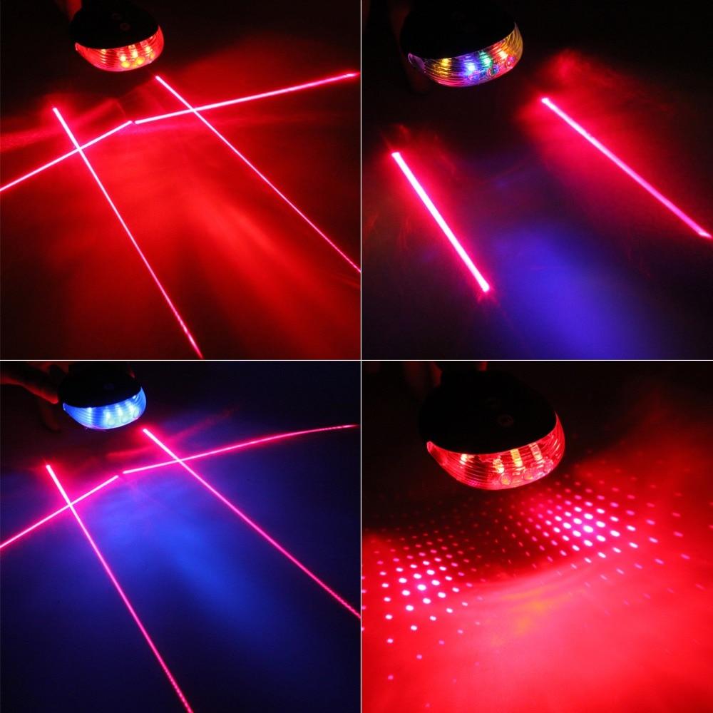 5 LED 1mW 8*7*3.5cm 3 Flashing Waterproof Laser Beam MTB Mountain Bicycle Bike Rear Tail Warning Lamp Lights For 20-26mm Tube