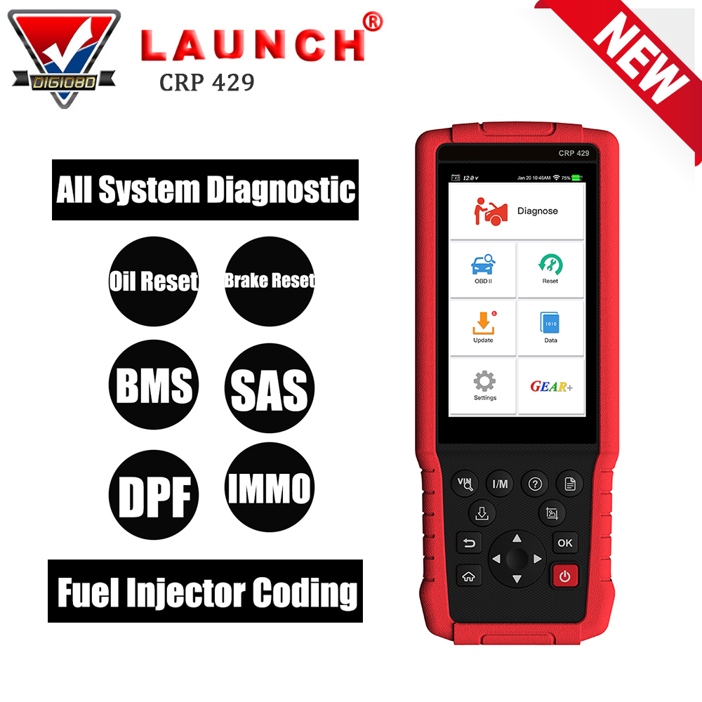 New Launch CRP429 All System OBD2 Car Diagnostic Tool Code Reader Scanner Oil Reset/EPB/BMS/SAS/DPF/Injector Coding/Immobilizer все цены
