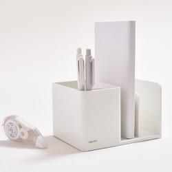 JIANWU простой однотонный многофункциональный контейнер для ручек пластиковый держатель для ручек держатель для книг офисные школьные канце...