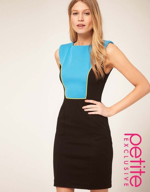 Retail CPAM free shipping color patchwork sleeveless women dress 8539