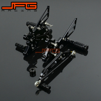 Motorcycle CNC Adjustable Foot Pegs Pedals Rest Rearset Footpegs For YAMAHA YZF R6 YZF R6 06