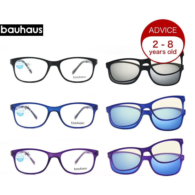 Square Children's Eyeglass Kids Eyewear Eyeglasses Boys Girls Myopia Spectacle Sunglass Anti blue-ray Glasses Clip