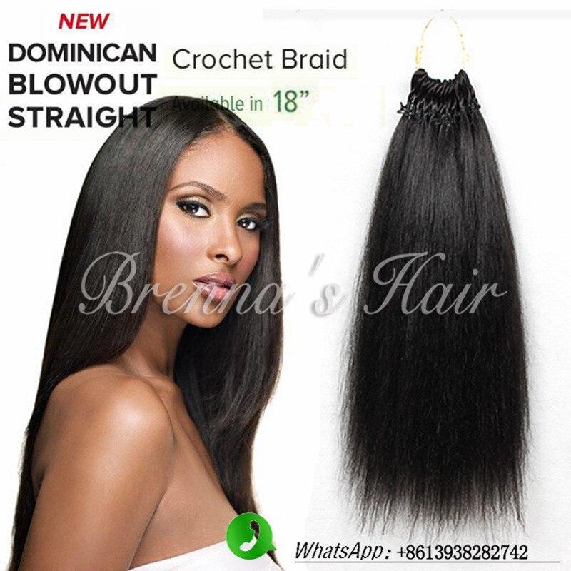 Best feeling human crochet braids hair pre braided crochet hair Synthetic Braiding Hair Dominican Blowout Straight hair