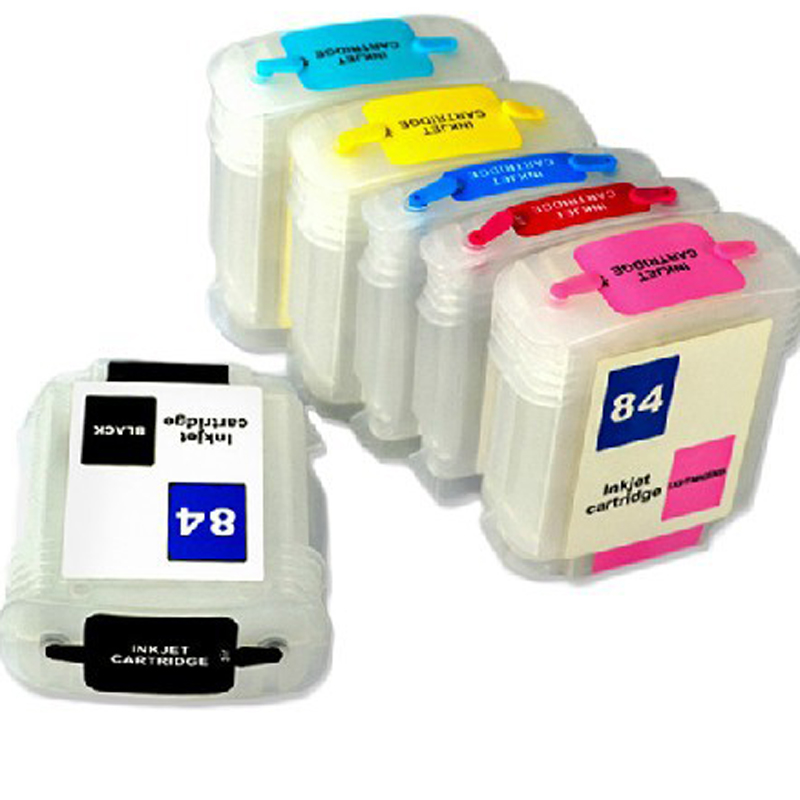 Vilaxh 6 Color Refillable Ink Cartridge replacement For HP 84 85 Designjet 130 130gp 130nr 30 30gp 30n 90 90gp 90r printer for hp 84 85 printhead for hp 84 85 c5019a c9420a c9423a designjet 30 90 130 printer head
