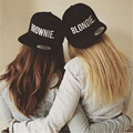 BLONDIE BROWNIE Embroidery Lovers Snapback Hats Acrylic Women Gifts  Baseball Caps Hip-Hop Sun Hats Adjustable Gorras 2 pieces
