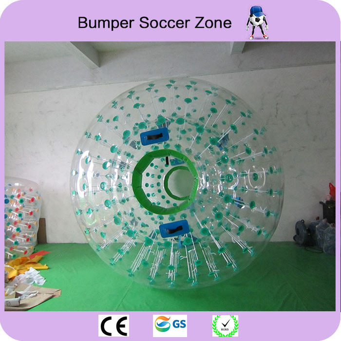 Free Shipping 2 Pieces And a Pumper Zorb Ball 2.5m Human Hamster Ball 0.8 mm PVC Material Zorb Inflatable Ball Outdoor Game