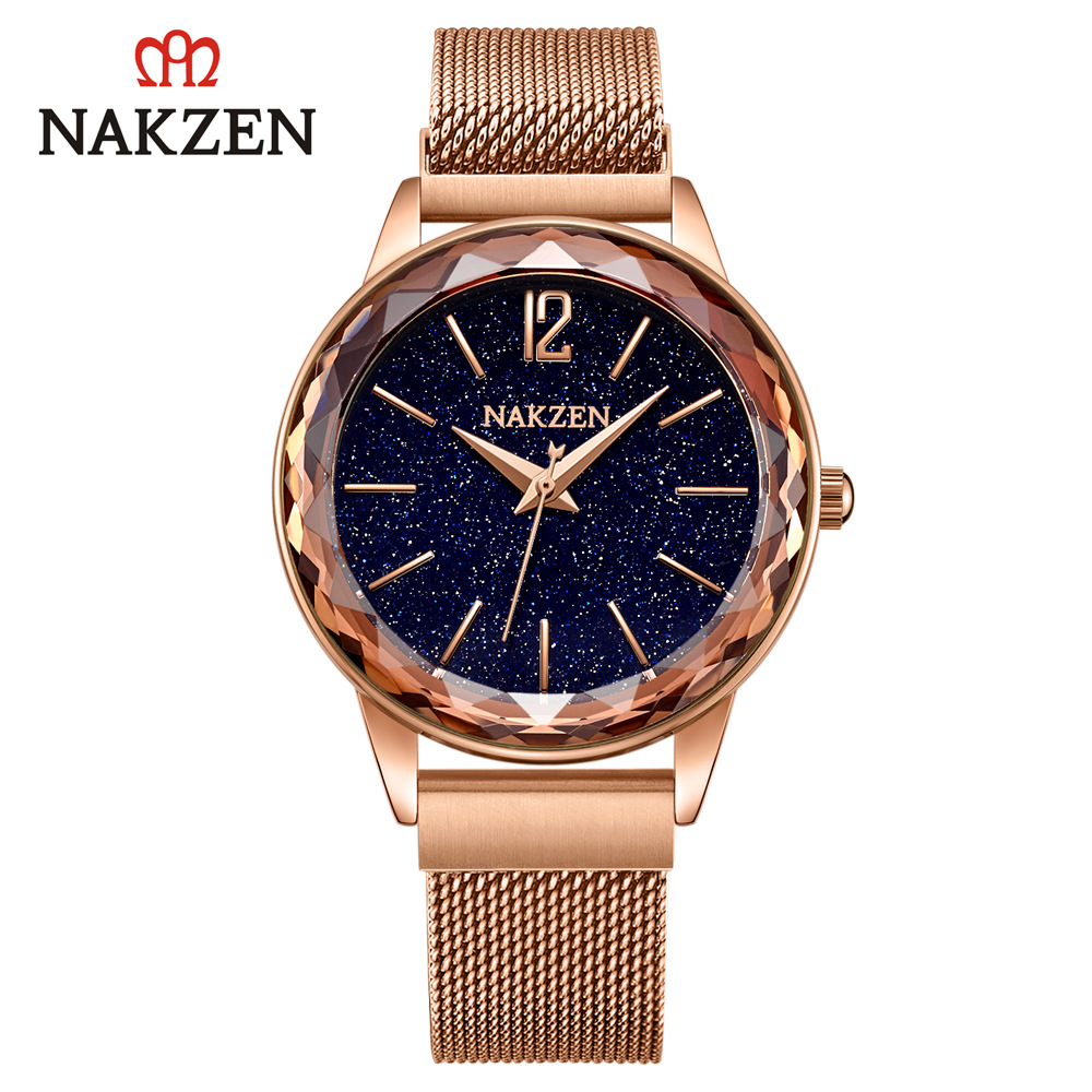 2019 new best selling fashion luxury watches ladies waterproof watch stars magnet