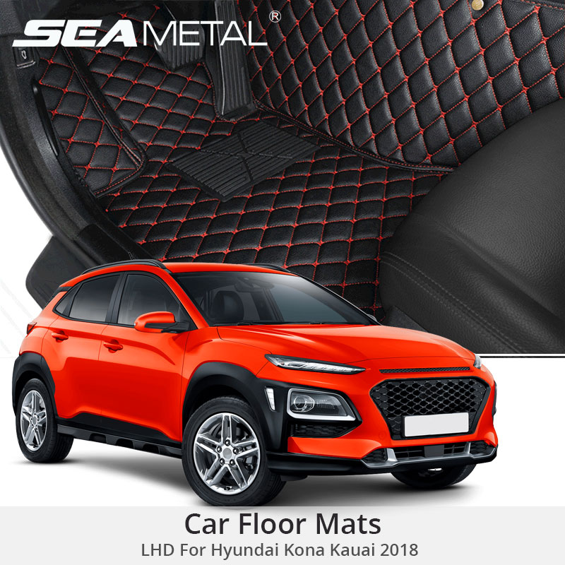 LHD Floor Mats For Hyundai Kona Kauai 2018 2017 Custom Rug Auto Interior Foot Mat Pad for Hyundai Encino Car Accessories StylingLHD Floor Mats For Hyundai Kona Kauai 2018 2017 Custom Rug Auto Interior Foot Mat Pad for Hyundai Encino Car Accessories Styling
