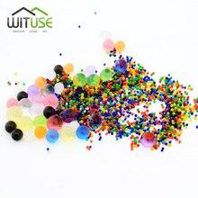 1000pcs Crystal Soil Orbiz Hydrogel Gel Decor Polymer Water Gun Paintball Bullet Toy For Boys Flower Wedding Home Decoration