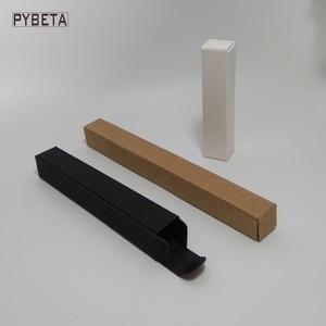 Image 3 - 100 pces caixa de papel kraft em branco papel preto delineador de papel caneta batom caixas de embalagem de presente