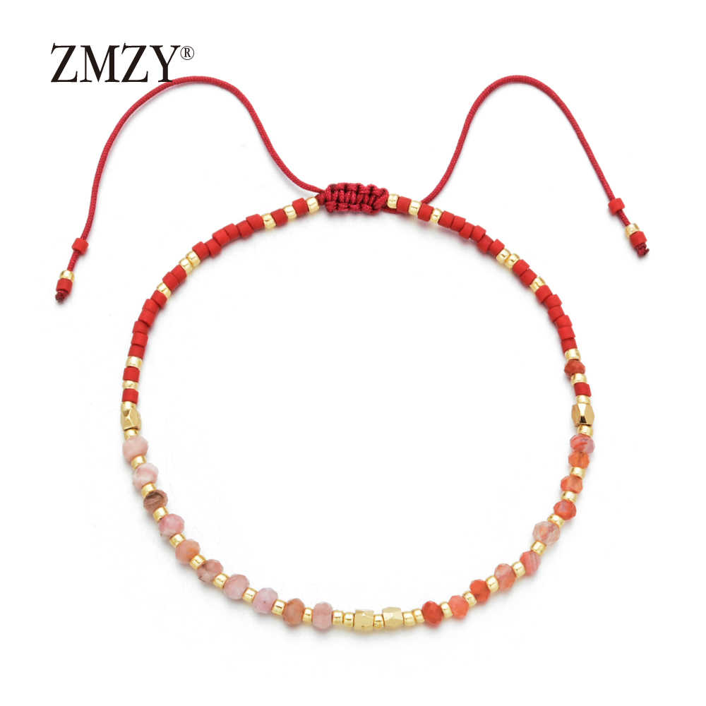 ZMZY 2mm Cute New Thin Fashion Bracelet Trendy Natural Stone Beads Friendship Bracelets for Girls/Women Bracelet Dropshipping