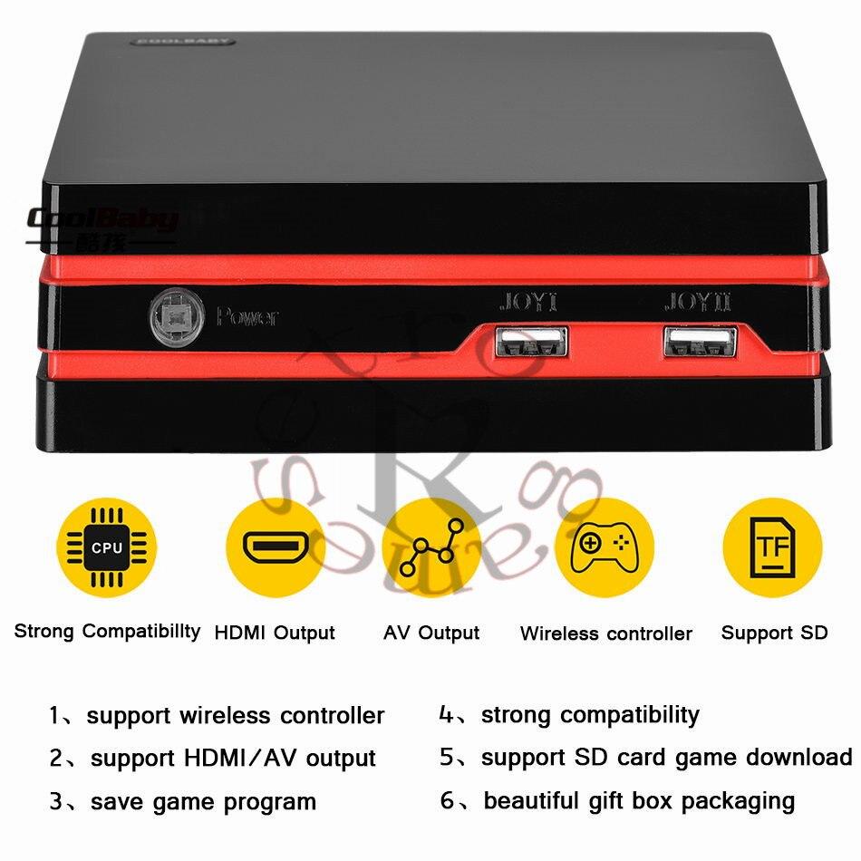 Contrôleur sans fil rétro Mini Console classique-avec 600 jeux interface HDMI + AV prend en charge divers téléviseurs