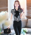 Plus Size 4XL Stirped Formal Tops E Calças de Design Uniforme Feminino Pantsuits Elegante Das Senhoras do Negócio Desgaste do Trabalho Calças Conjuntos