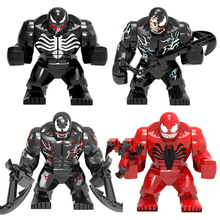 Genuine Super Heroes Thanos Anti Venom Hulk Iron Man Model Building Block Toys For Children Compatible