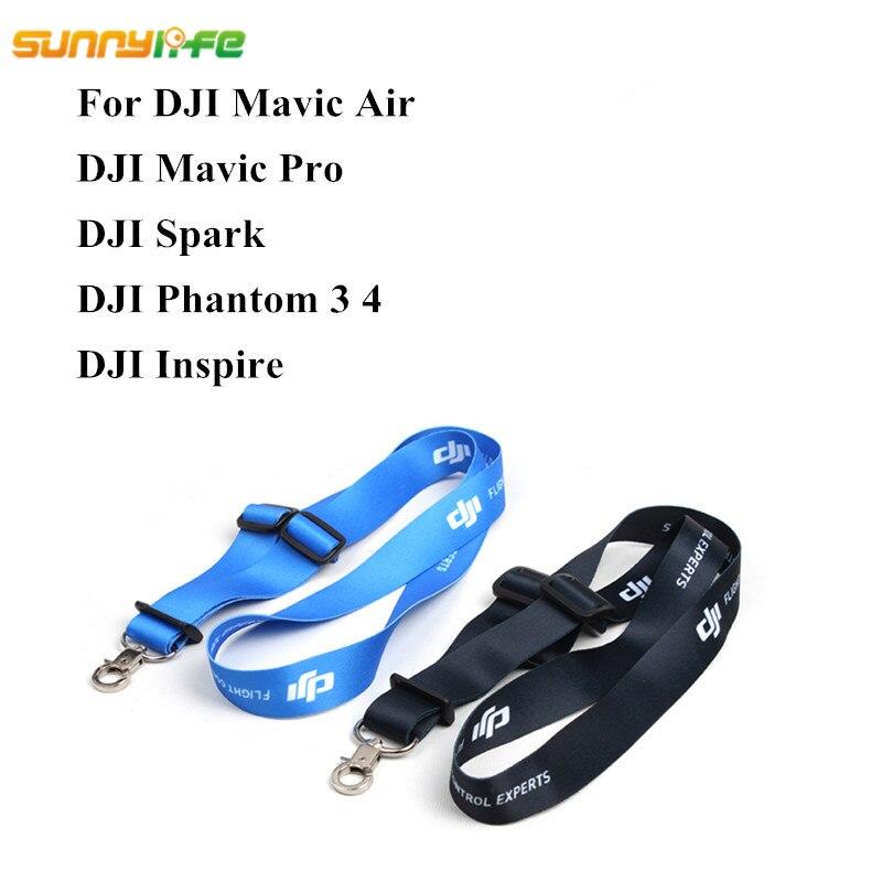 Sunnylife Mavic Pro Mavic Air DJI Spark Remote Controller Shoulder Belt DJI Phantom 3 4 Transmitter Lanyard Strap Neck Sling
