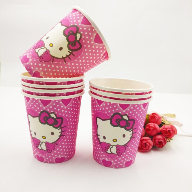 Hello Kitty Themed 1st Birthday Disposable Party Tableware Hello