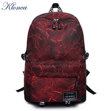 Klonca Canvas Backpack Geometric Pattern 2019 New Design Freeshipping Large Capacity Bags for Student Travel Light