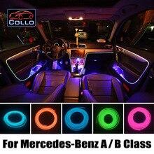 9 М EL Провода Для Мерседес Для Benz A Class W169 W176/B Класс W245 W246/Романтическая Атмосфера Лампа/Украшение Автомобиля Холодный Свет