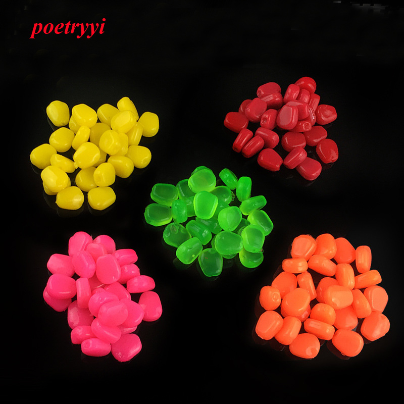 10Pcs / 20pcs / Lot 1cm0.33G Soft With Floating / Sinking Corn Smell Carp Fishing Lures Baits Wobbler Pesca Carp Fishing Tackle