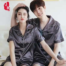 2018 Silk Men Pajama Sets Solid Sleepwear Suits Satin Pyjama Short Mens Pajamas Sleepwears Summer XXL XXXL