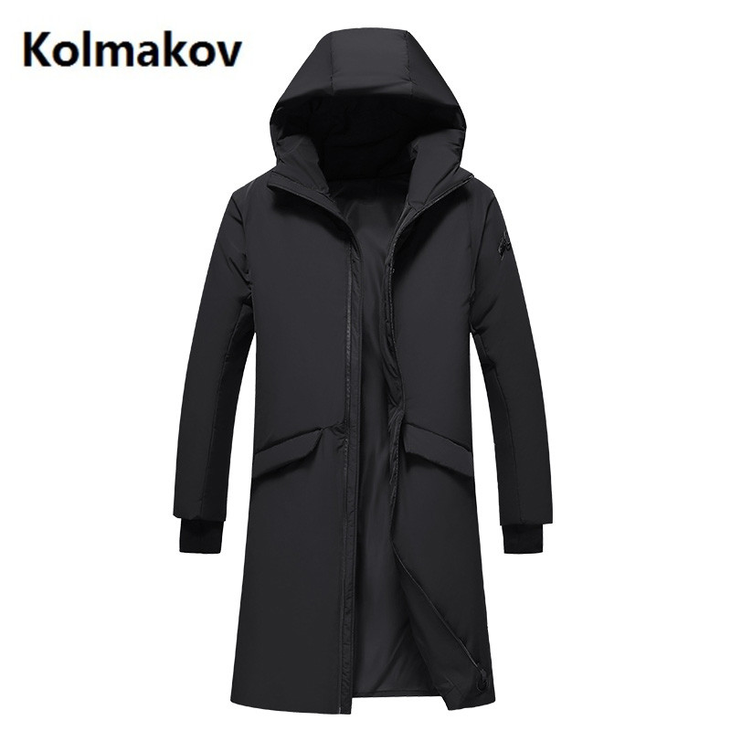 2017 winter Mens casual fashion Hooded jackets Trench coat men white duck down 90% down jacket Mens Down Coats KL097