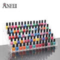 65 Bottles Nail Polish Display Rack, Acrylic Nail Polish Bottles Holder, Nail Salon Equipment, Table Nail Rack