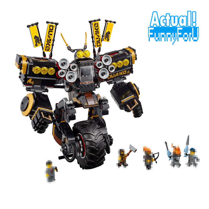 In Stock Lepin 06069 1346Pcs Cole's Quake Mech Ninja Series Jay Kai A Gang's Unicycle Building Blocks Toys Compatible 70632 lepine 06069 1346 pcs ninjagoe quake mech set jay kai a gang s model building blocks toys for children compatible legoe 70632