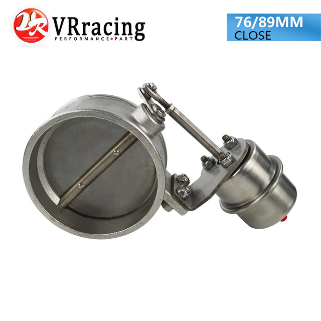 VR RACING NEW vacuum Activated Exhaust Cutout 3 76MM or 3 5 89MM Close Style Pressure