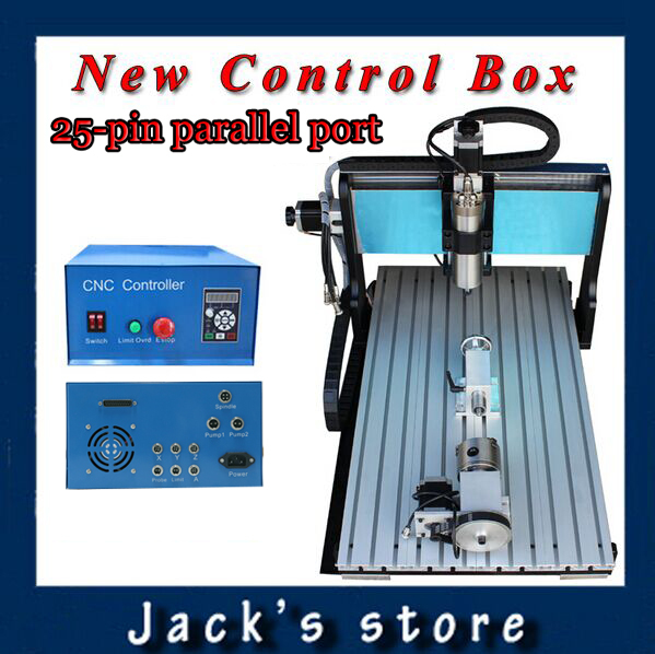 25-pin parallel port !!! 6040Z-SS++(4aixs),1500W Spindle+2.2kw VFD CNC6040 CNC Router water-cooling Metal engraving machine usb port 6040z s 4aixs 800w spindle 1 5kw vfd cnc6040 cnc router water cooling metal engraving machine cnc machine cnc 6040