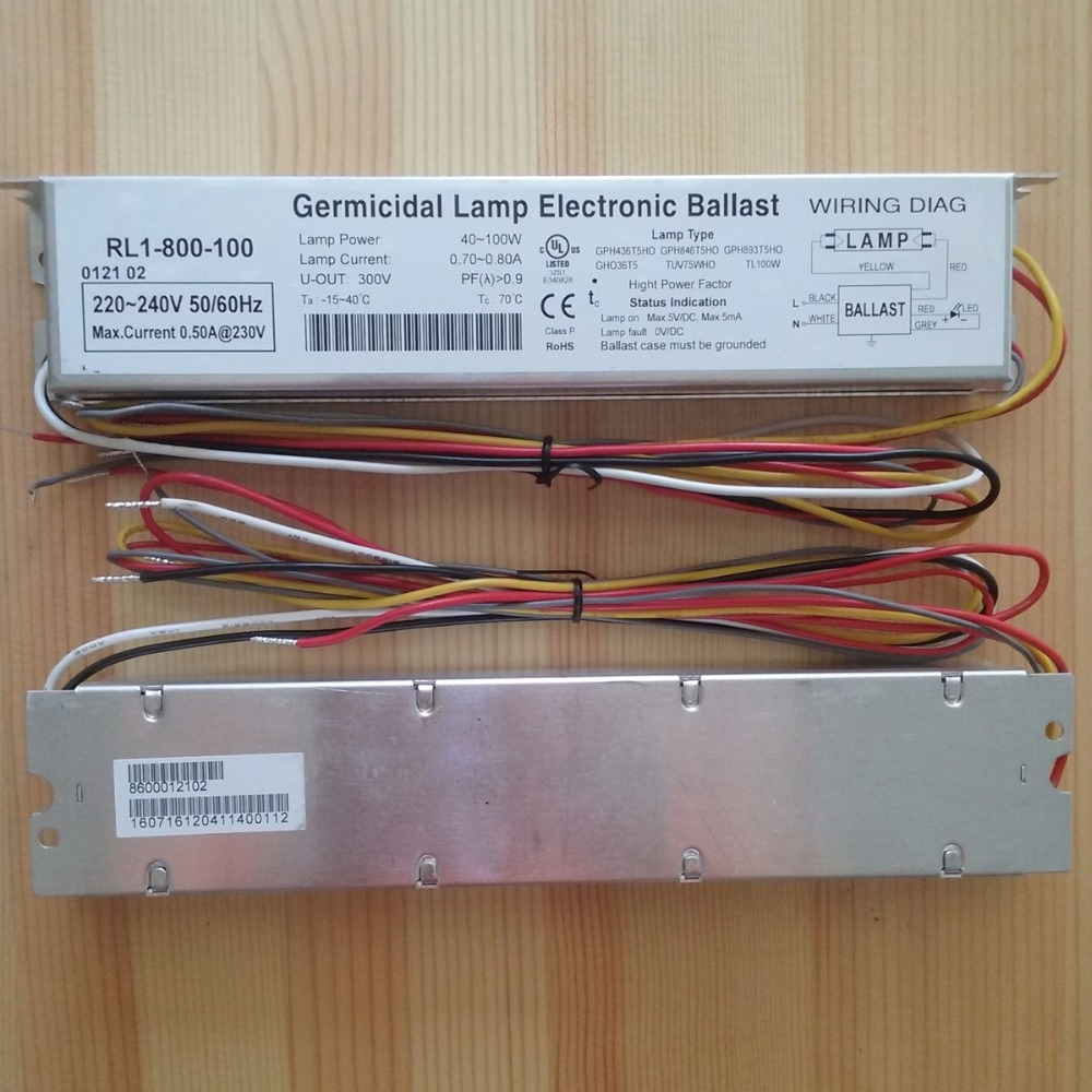 230V 95W Germicidal Lamp Electronic Ballasts UV Ballast IP64 RL1-800-100 UL CE Certificates for UV Lamps 2017 sale time limited ccc ce white lampara uv ultraviolet ultraviolet lamp 145w germicidal lamp electronic ballast
