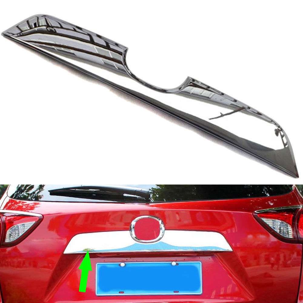ABS Chrome Car Rear Bumper Boot Door Trunk Lid Cover Trim Tailgate Molding Sticker For <font><b>Mazda</b></font> <font><b>CX5</b></font> CX-5 2012-2016 image
