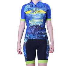 Outdoor Sport Short Sleeve Elastic Cycling Jersey Set Suit for Women Bike/Bicycle Wear Breathable Clothing Ropa Ciclismo