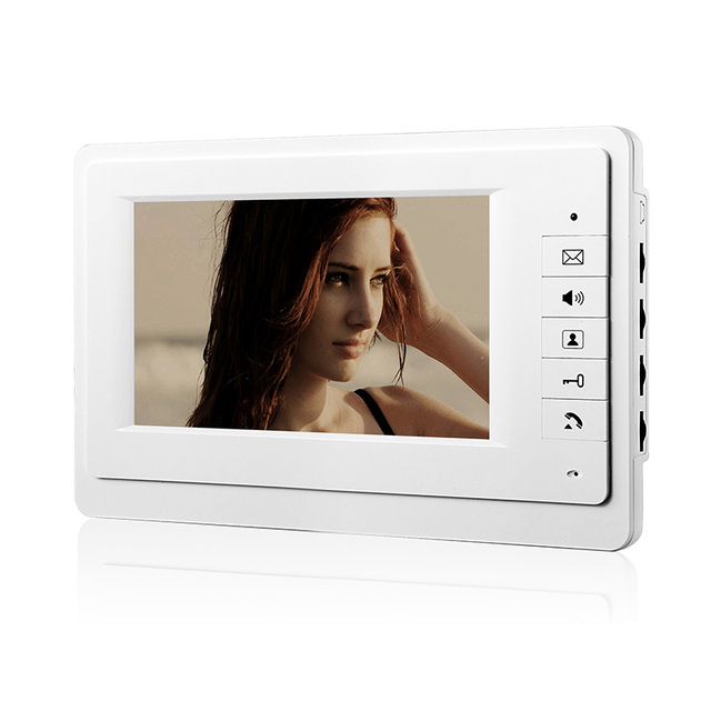 Chuangkesafe 720P 7 inch LCD screen Display Wired Video Door Phone Intercom Indoor Unit Without Outdoor Camera