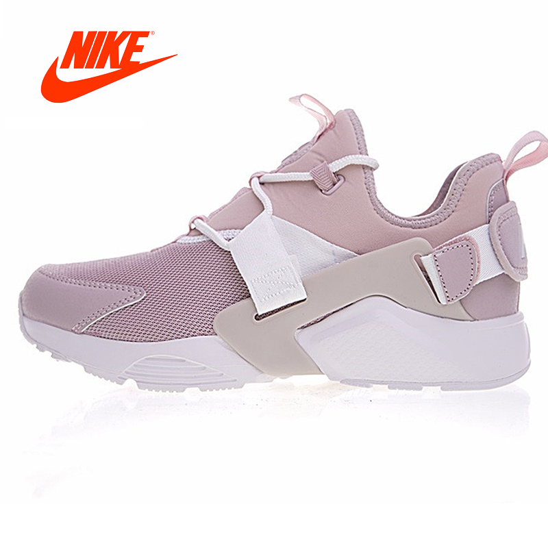 2018 Original Nike AIR HUARACHE CITY LOW Women's Comfortable Running Shoes AH6804-600Outdoor Jogging Stable Breathable gym Shoes original new arrival official nike air huarache city low women running shoes outdoor sports shoes ah6804