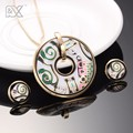 R&X Gift Sieraden Sets Anniversary Engagement Necklace Set Women Necklace/Earrings  Stainless Steel Enamel Jewelry Trendy S22101