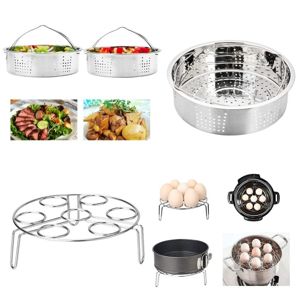 Kitchen Steamer Basket Egg Steamer Rack Non-stick Springform Pan Steaming Stand Silicone Cooking Pot Mitts For Pressure Cooker