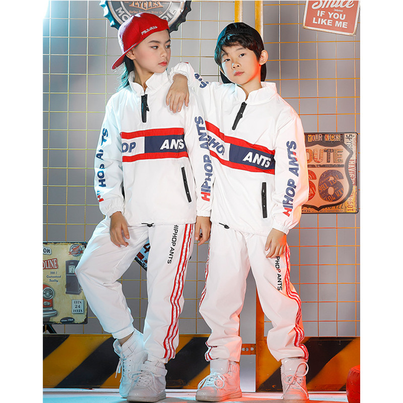 New Trend Children Girls Jazz Dance performance Sets For Boys hip-hop Dance Print Kids Clothes Halloween Party Clothing