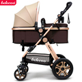 Baby Stroller High Landscape Baby Carriage For Newborn Infant Sit and Lie Four Wheels