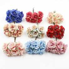 6pcs 3.5cm high quality silk artificial crown decorative flower wedding bouquet for DIY scrapbook handmade flowers